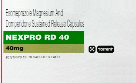 nexpro rd 40 capsule detail and uses in Hindi